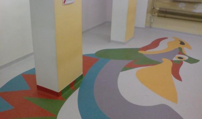 Montaż wykładziny w przedszkolu w Kluczborku.